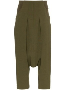 Rick Owens drop crotch trousers - Green