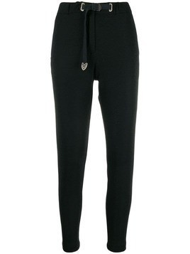 White Sand cropped track pants - Black