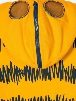 Stella Mccartney Kids doodle tiger print hoodie - Yellow