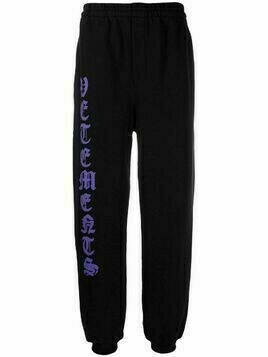VETEMENTS logo-print track pants - Black