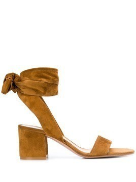 Gianvito Rossi bow-tie detail sandals - Brown