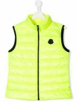Moncler Enfant padded gilet - Yellow