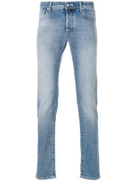 Jacob Cohen - stonewashed slim-fit jeans - Herren - Cotton/Spandex/Elastane/Polyester - 38 - Blue