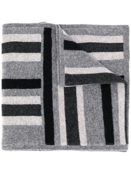 Pringle Of Scotland striped knitted scarf - Grey