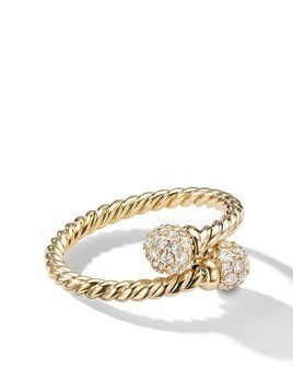 David Yurman 18kt yellow gold Solari Bypass diamond ring - 88ADI