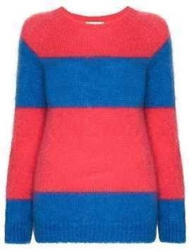 Molly Goddard Noah stripe-pattern jumper - Blue