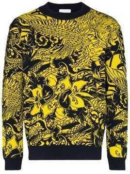 Koché intarsia knit jumper - Yellow