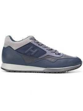 Hogan low top logo trainers - Blue
