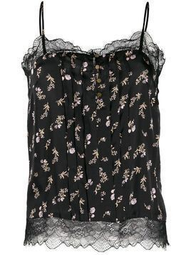 Love Stories floral-print camisole - Black