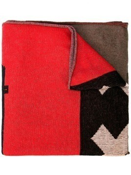 Bernhard Willhelm jacquard scarf - Red