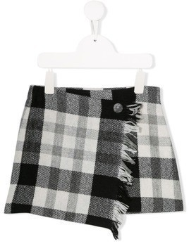 Il Gufo two-tone wrap style skirt - Black