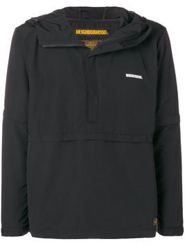 Neighborhood hooded half-zip jacket - Black