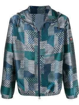 Missoni geometric pattern windbreaker - Blue