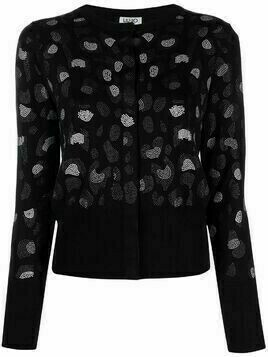 LIU JO studded pattern cardigan - Black