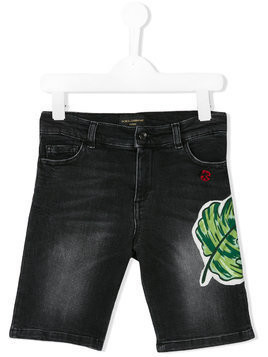 Dolce & Gabbana Kids denim shorts - Black