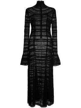 Oscar de la Renta turtleneck knitted dress - Black