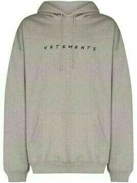 Vetements Friendly logo-print hoodie - Grey