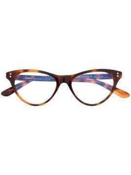 Lesca Norma Jeanne cat-eye glasses - Brown