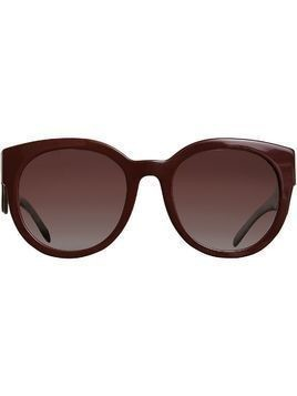Burberry Round Frame Sunglasses - Red