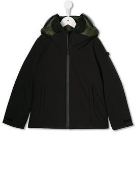AI Riders on the Storm short hooded jacket - Green