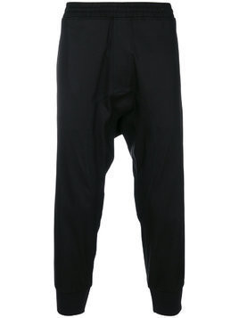 Neil Barrett cropped tapered track pants - Black