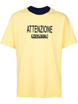 Bethany Williams Attenzione T-shirt - Yellow