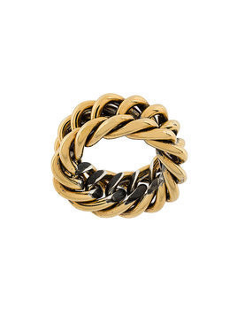 Ugo Cacciatori chain detail ring - Metallic