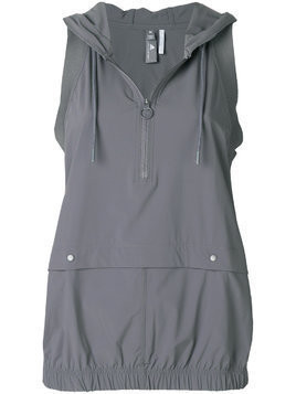 Adidas By Stella Mccartney sleeveless hoodie - Grey