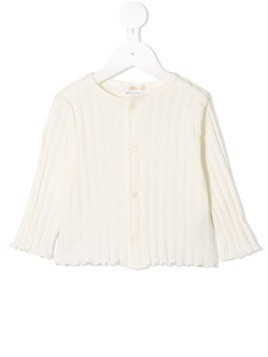 Fith ribbed cardigan - White