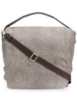 Borbonese speckled tote - Neutrals
