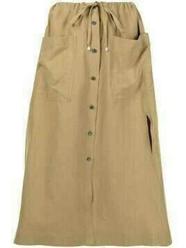 Altuzarra Tandy button-front skirt - Brown