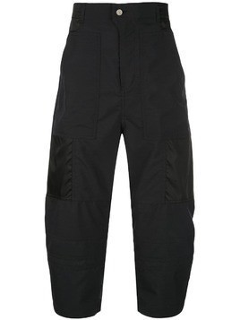 Julien David balloon leg cargo trousers - Black