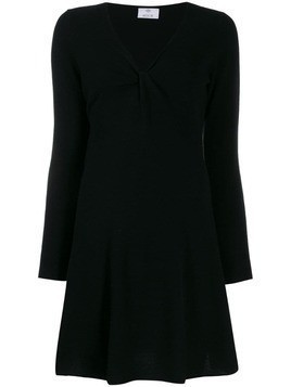 Allude fine knit mini dress - Black