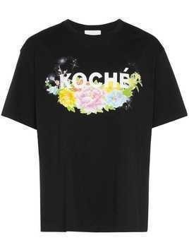 Koché flower logo print T-shirt - Black