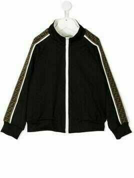 Fendi Kids side-panel jacket - Black