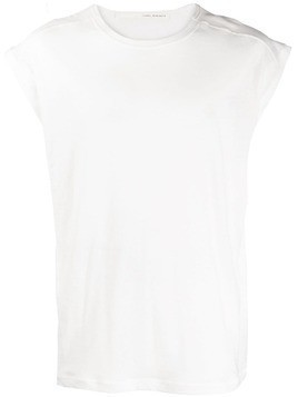 Isabel Benenato logo printed tank top - White