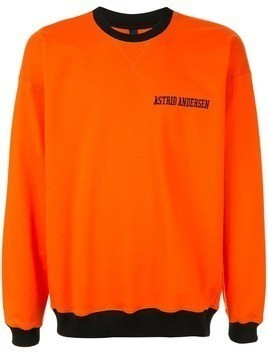 Astrid Andersen relaxed jersey sweater - Orange