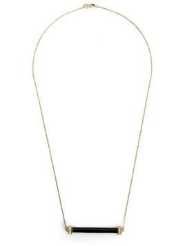 Kristin Hanson onyx and diamond bar necklace - Black
