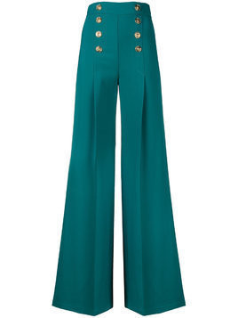 Elisabetta Franchi nautical palazzo pants - Green