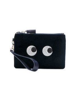 Anya Hindmarch 'eyes' clutch bag - Blue