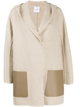 Agnona cashmere hooded coat - NEUTRALS