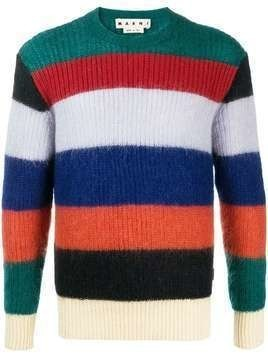 Marni horizontal-stripe jumper - Blue