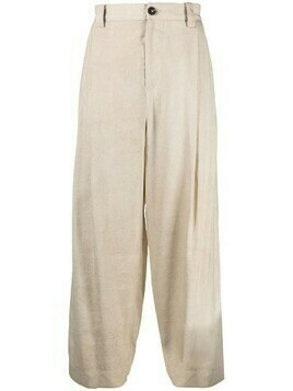 Ziggy Chen straight-leg cotton trousers - Neutrals