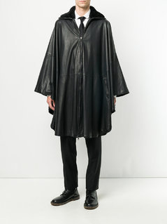 Versace Vintage cape coat - Black