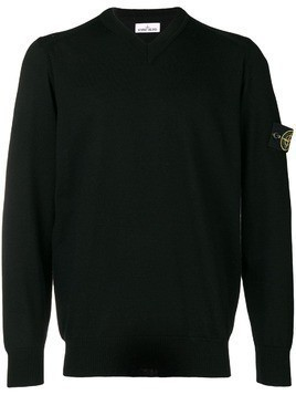 Stone Island V-neck jumper - Black