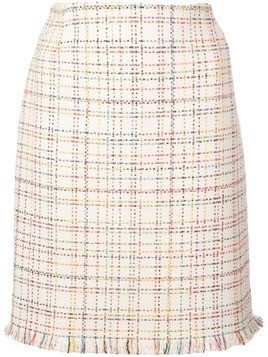 Akris Punto rainbow tweed skirt - Neutrals