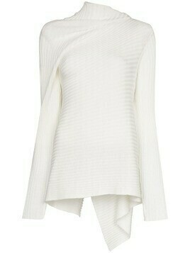 Marques'Almeida chunky-knit draped jumper - White