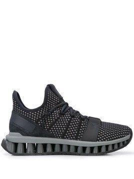Ermenegildo Zegna knit panelled sneakers - Blue