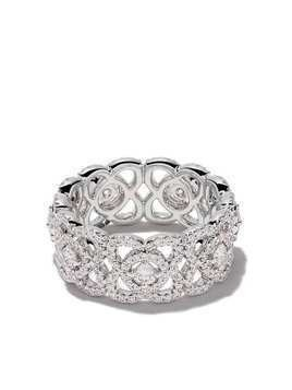De Beers 18kt white gold Enchanted Lotus diamond band
