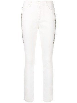 Ermanno Ermanno embroidered skinny jeans - White